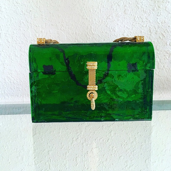 Bags | 1940s Vintage Lucite Rare Emerald